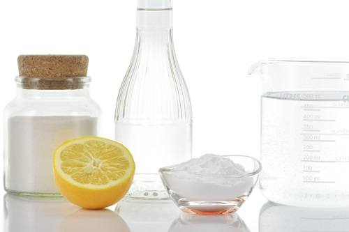 Vinegar Baking Soda Salt Lemon
