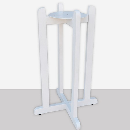White Crock Holder Stand