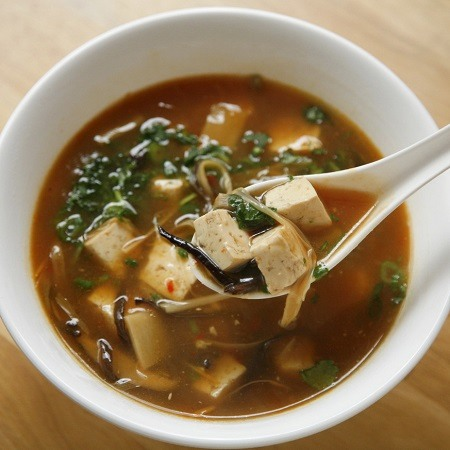 Delicious Hot and Sour Soup in a bowl