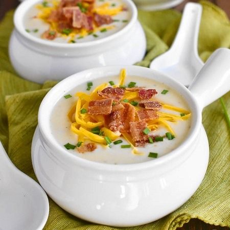 3. Loaded Creamed Corn with Potato and Bacon