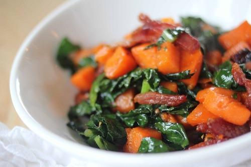 Orange-Sage Sweet Potato with Bacon