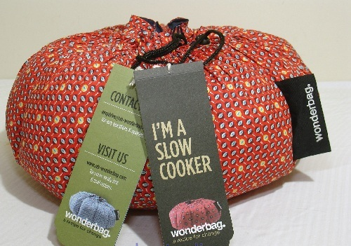 A wrapped up Slow Cooker present